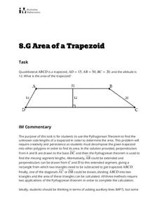 Area of a Trapezoid Lesson Plan