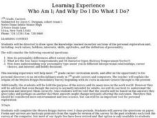 Who Am I; And Why Do I Do What I Do? Lesson Plan