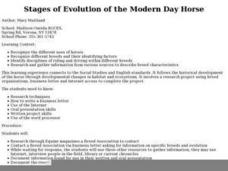 Evolution of the Horse Lesson Plan