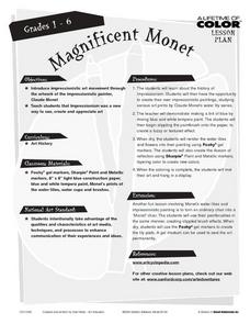 Magnificent Monet Lesson Plan