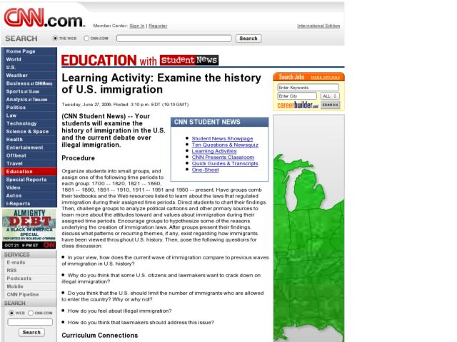 Examine the History of U.S. Immigration Lesson Plan