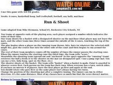 Run & Shoot Lesson Plan