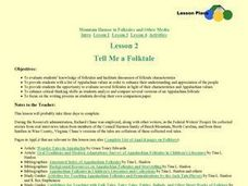 Tell Me a Folktale Lesson Plan