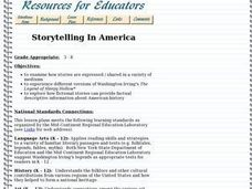 Storytelling In America Lesson Plan