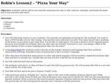Pizza Your Way Lesson Plan