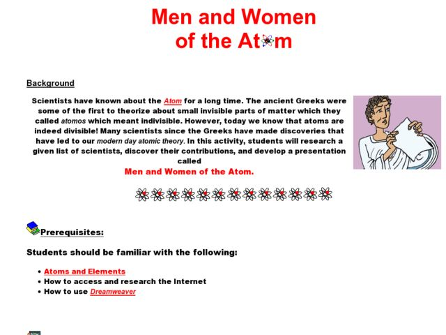 Men and Women of the Atom Lesson Plan