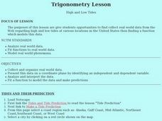 High and Low Tides Lesson Plan