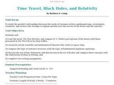 Time Travel, Black Holes, and Relativity Lesson Plan