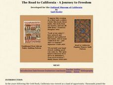 The Road to California - A Journey to Freedom Lesson Plan