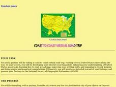 Coast to Coast Virtual Trip Lesson Plan