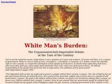White Man's Burden:The Expansionist/Anti-Imperialist Debate  at the Turn of the Century Lesson Plan