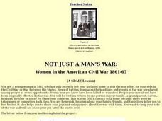 Not Just A Man's War Lesson Plan