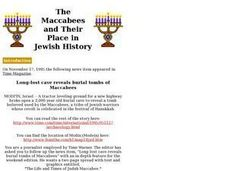 The Maccabees and Their Place in Jewish History Lesson Plan