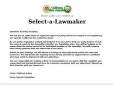 Select-a-Lawmaker Lesson Plan