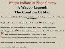 A Wappo Legend: The Creation of Man Lesson Plan