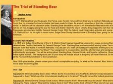 The Trial of Standing Bear Lesson Plan