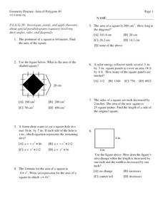 Area of Polygons Lesson Plan