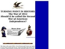 TURNING POINT IN HISTORY:The War of 1812 Lesson Plan