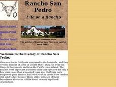 Rancho San Pedro Lesson Plan