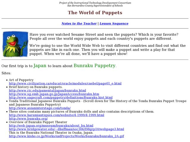 The World of Puppets Lesson Plan