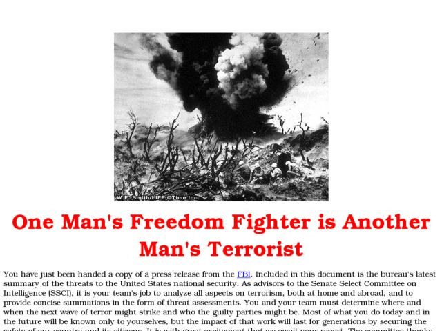 One Man's Freedom Fighter is Another Man's Terrorist Lesson Plan