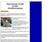 Mycenaean Trade in the Mediterranean Lesson Plan