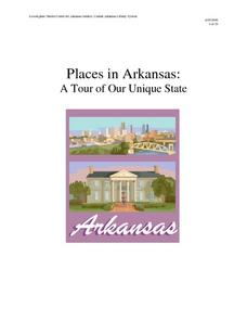 Places in Arkansas: A Tour of Our Unique State Lesson Plan