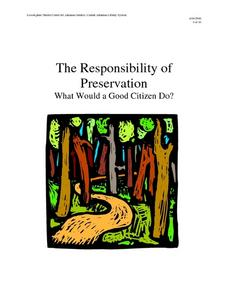 The Responsibility of Preservation Lesson Plan
