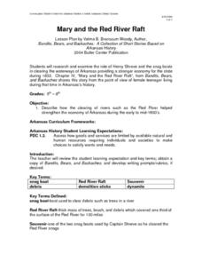 Mary and the Red River Raft Lesson Plan