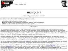 High Jump Lesson Plan