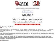 Nicotine Why is it so hard to quit smoking? Lesson Plan