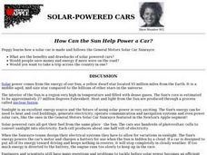 Solar Powered Cars Lesson Plan