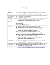 Butterfly Log Lesson Plan