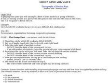 Group Game With Value Lesson Plan