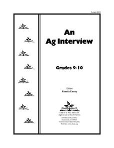 An Ag Interview Lesson Plan