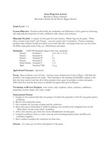 Grain Properties Activity Lesson Plan