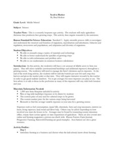 Seed to Market Lesson Plan