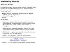 Numbering Noodles Lesson Plan