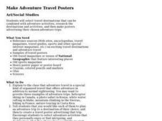 Make Adventure Travel Posters Lesson Plan