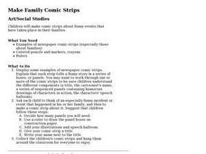 Make Family Comic Strips Lesson Plan