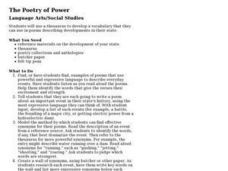 The Poetry of Power Lesson Plan