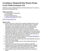 Creating a Memorial Day Poster Poem Lesson Plan