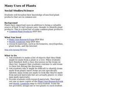 Many Uses of Plants Lesson Plan
