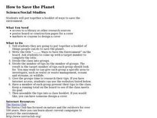 How To Save The Planet Lesson Plan