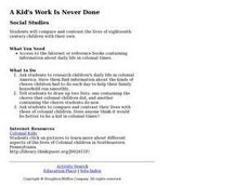 A Kid's Work Is Never Done Lesson Plan