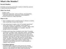 What's the Wonder? Lesson Plan