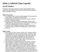 Make a Cultural Time Capsule Lesson Plan