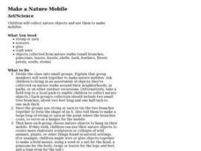 Make a Nature Mobile Lesson Plan