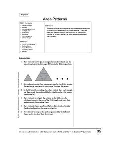Area Patterns Lesson Plan