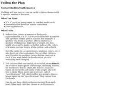 Follow the Plan Lesson Plan
